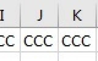 Excel добавить столбец